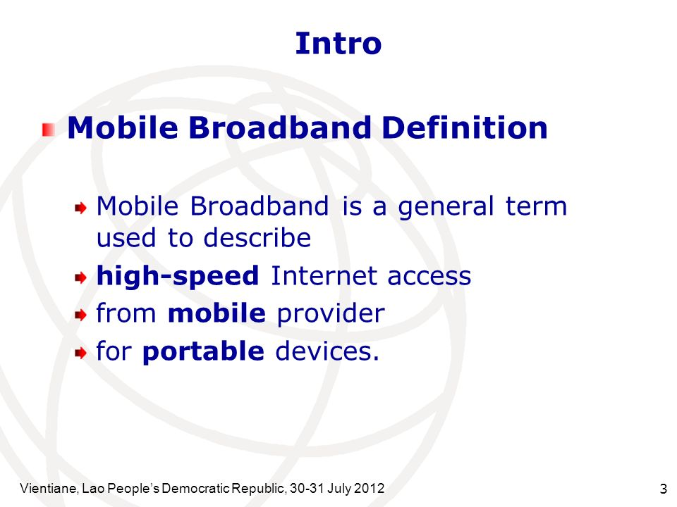 Mobile Broadband Definition