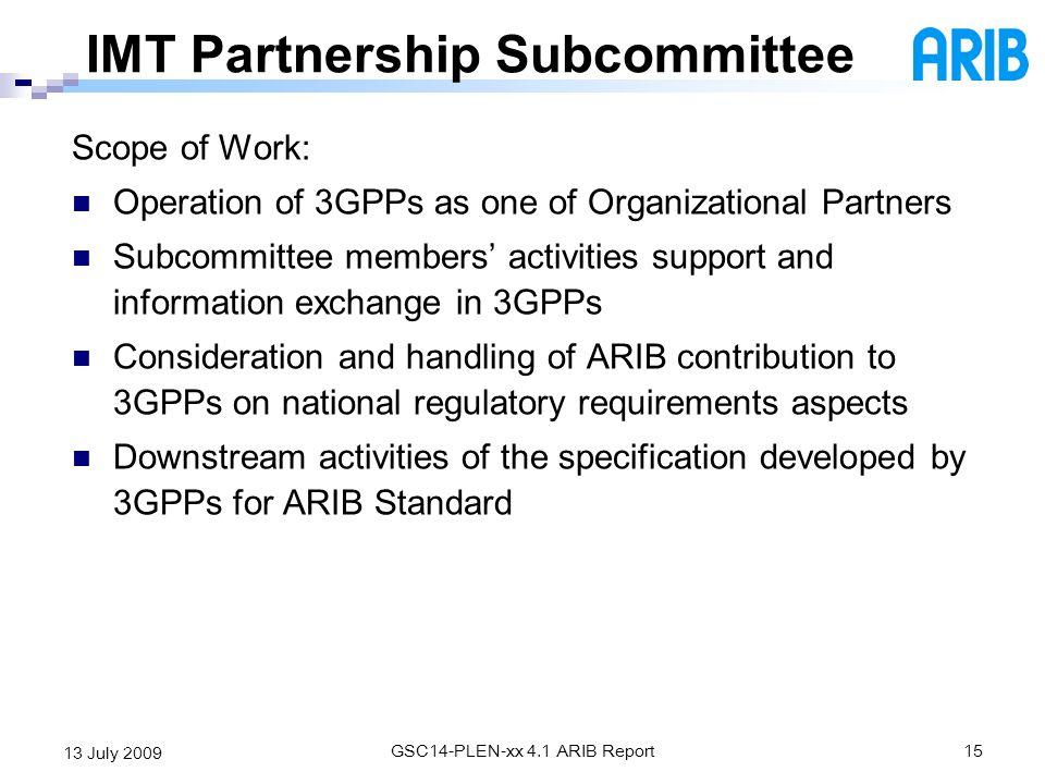IMT Partnership Subcommittee