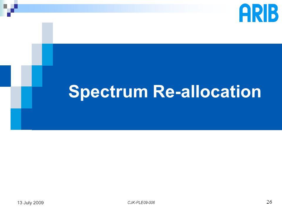 Spectrum Re-allocation