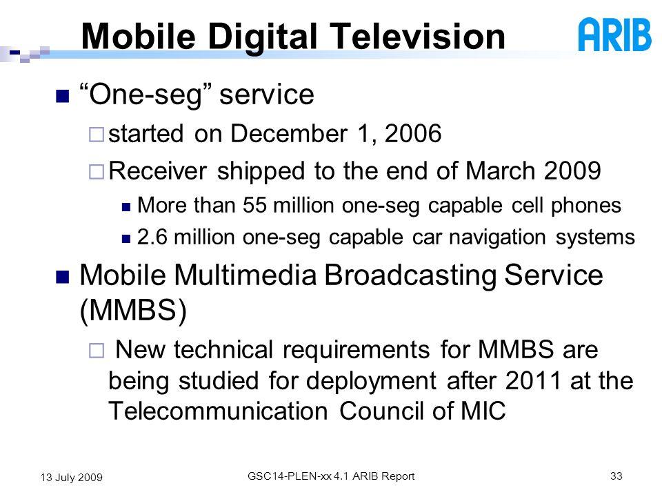 Mobile Digital Television