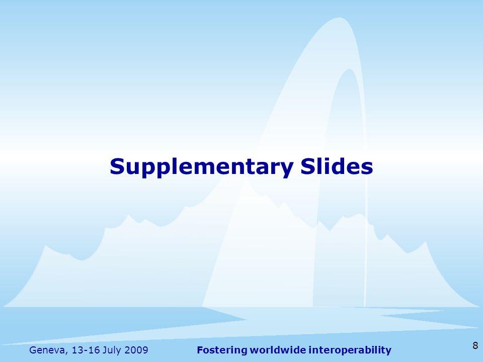 Supplementary Slides Geneva, 13-16 July 2009