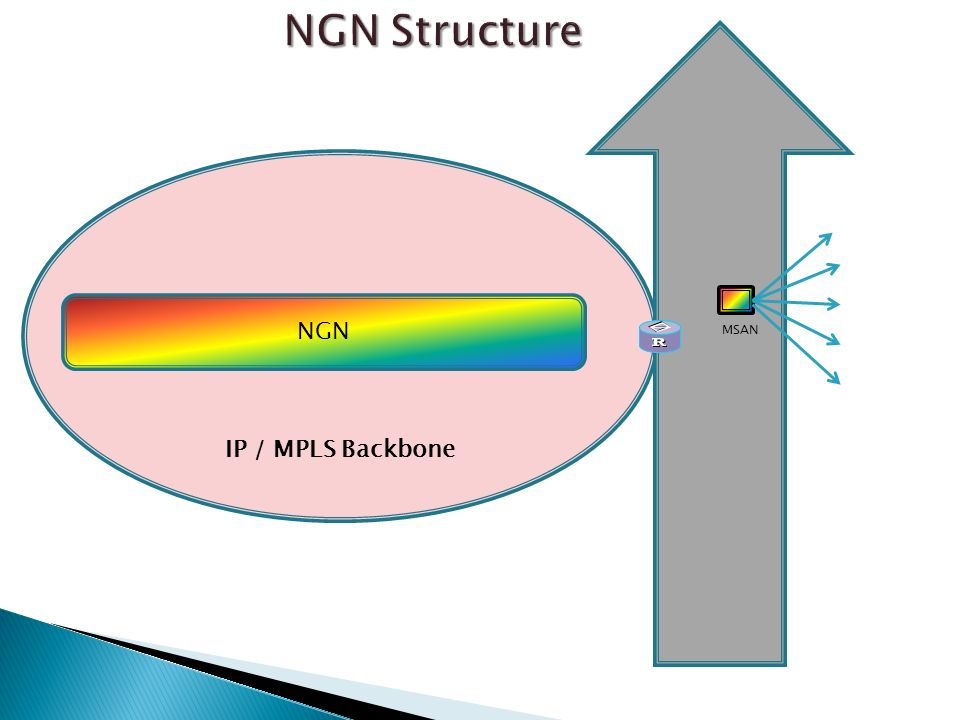 NGN Structure IP / MPLS Backbone NGN MSAN