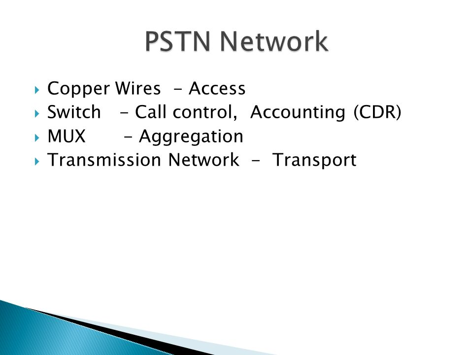 PSTN Network Copper Wires - Access