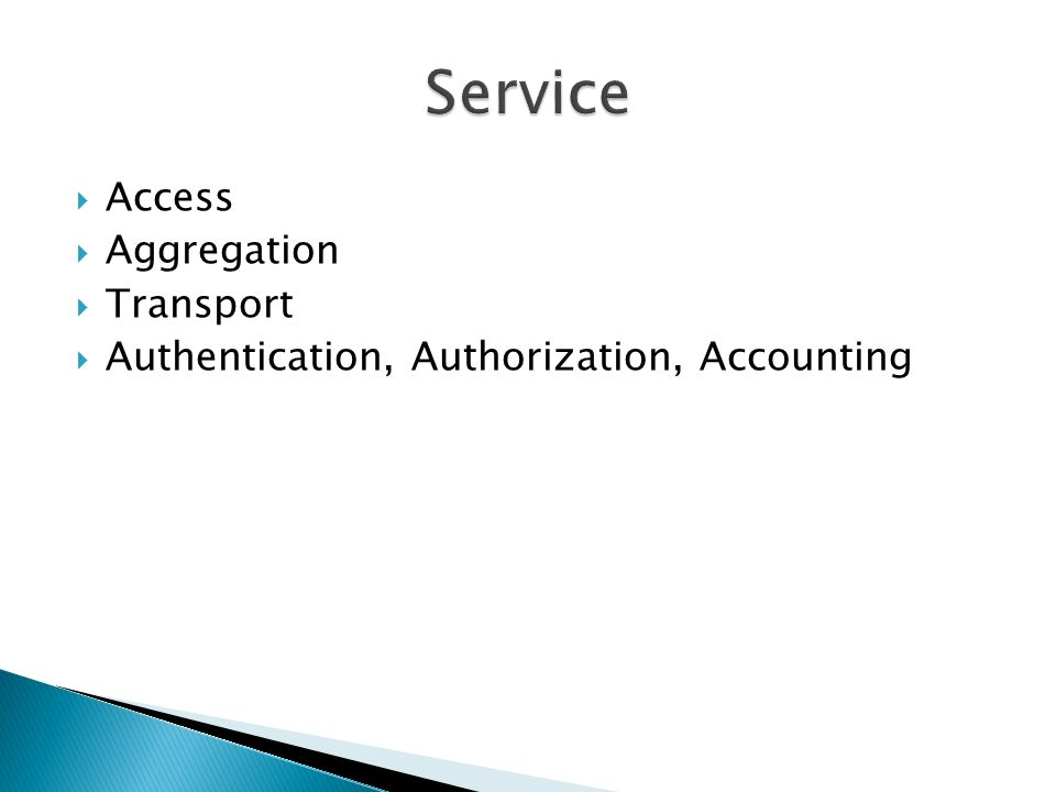 Service Access Aggregation Transport