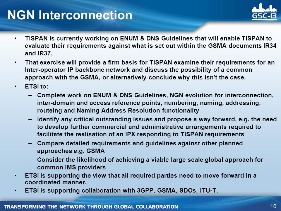 NGN Interconnection
