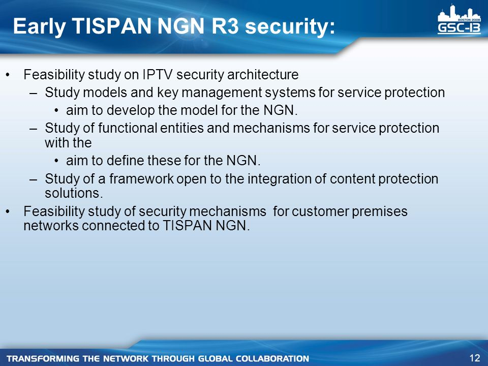 Early TISPAN NGN R3 security: