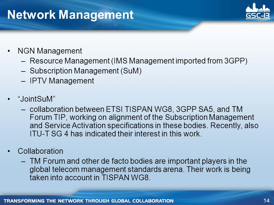 Network Management NGN Management