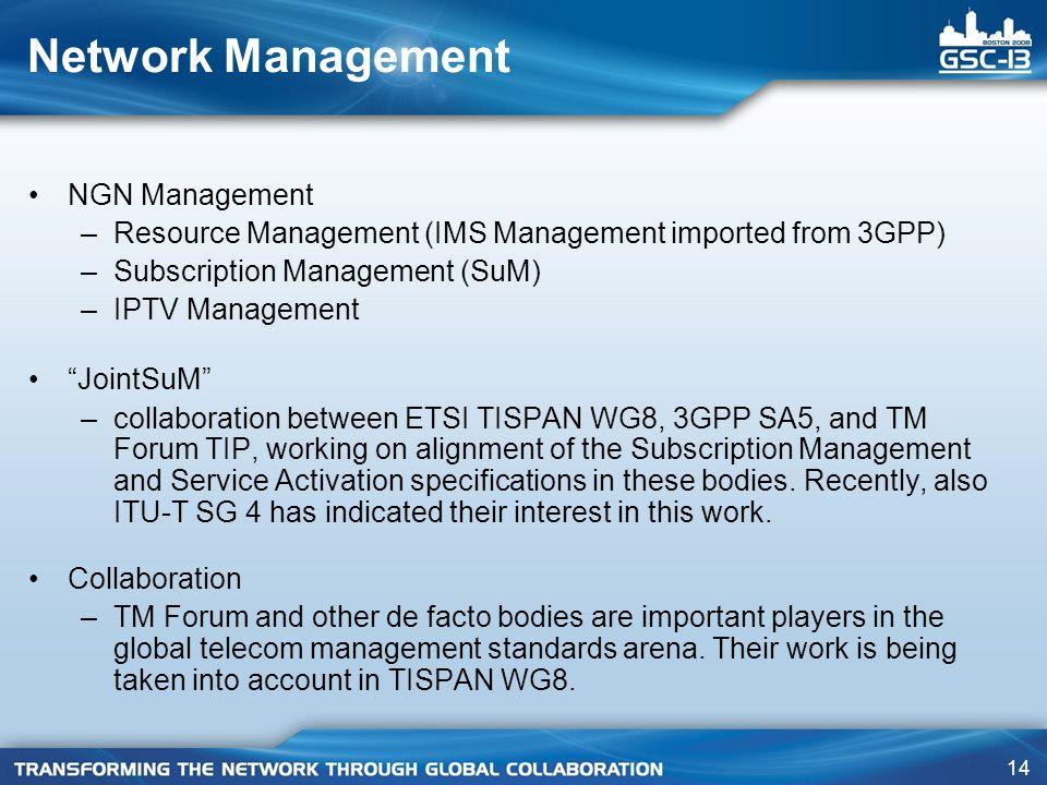 Network Management NGN Management