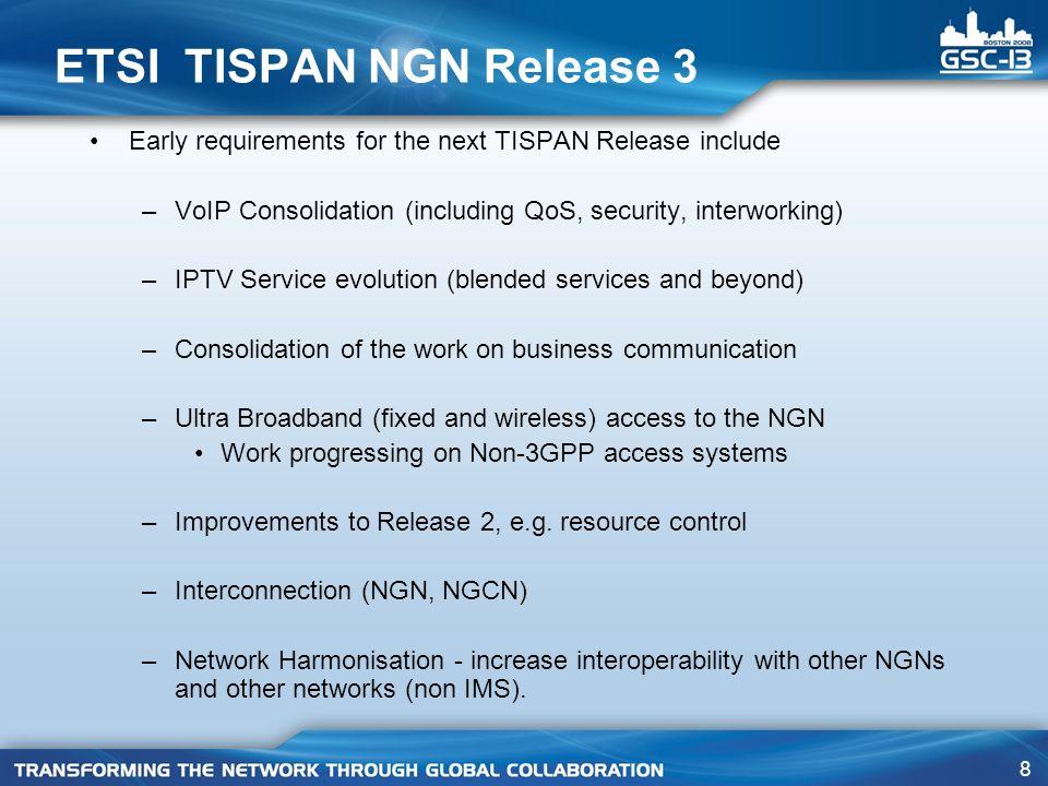 ETSI TISPAN NGN Release 3