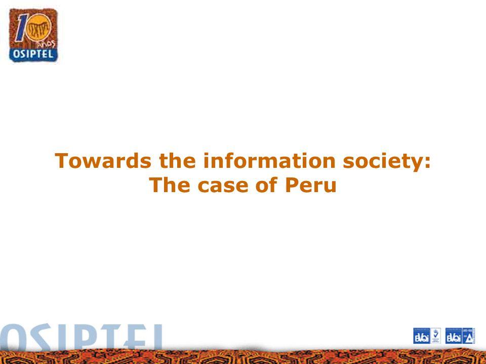 Towards the information society: