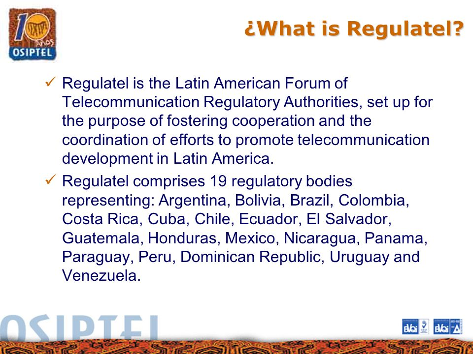 ¿What is Regulatel