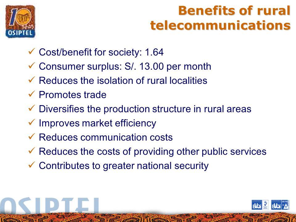 Benefits of rural telecommunications