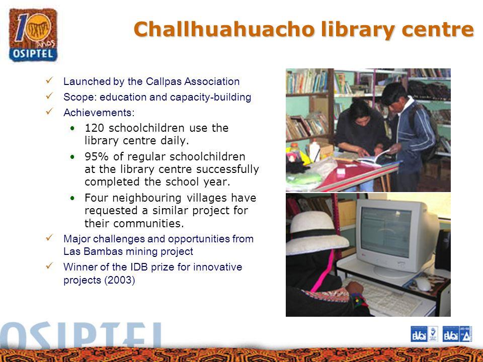 Challhuahuacho library centre