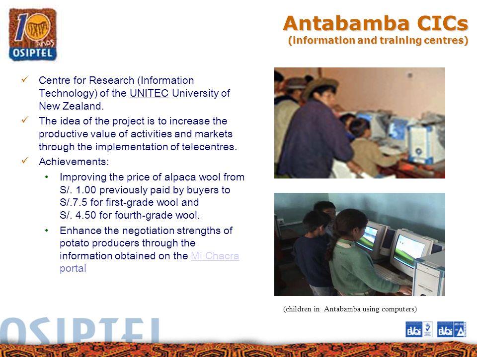 Antabamba CICs (information and training centres)