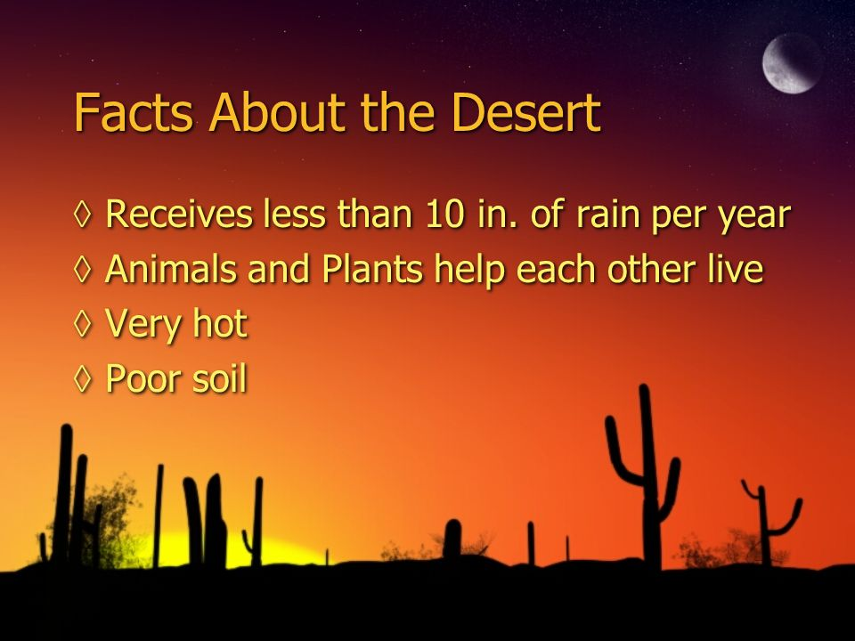 Desert by cack tess ppt video online download for 5 facts about soil