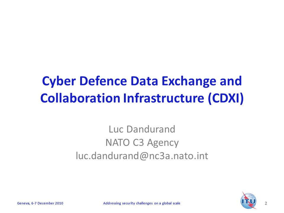 Cyber Defence Data Exchange and Collaboration Infrastructure (CDXI)