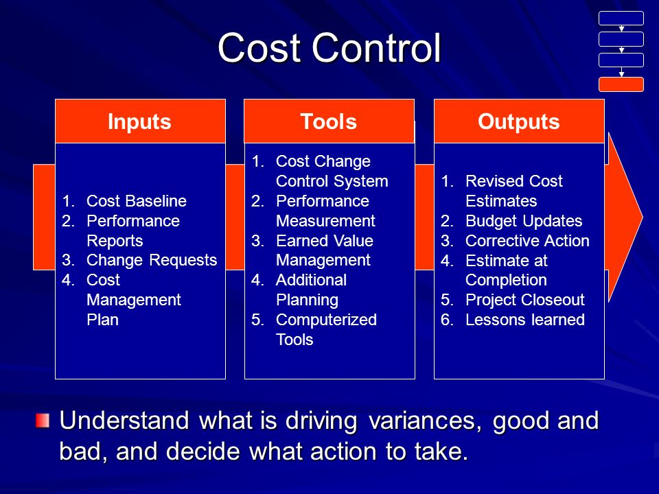 What is the difference between project control and cost control?