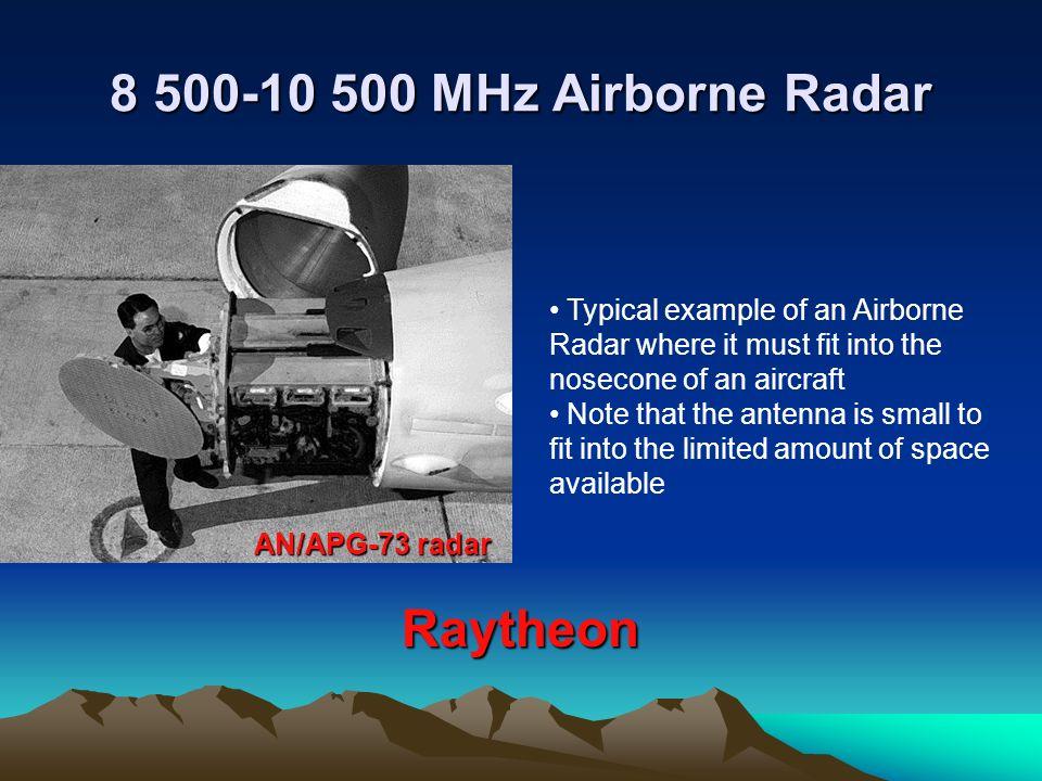 8 500-10 500 MHz Airborne Radar Raytheon