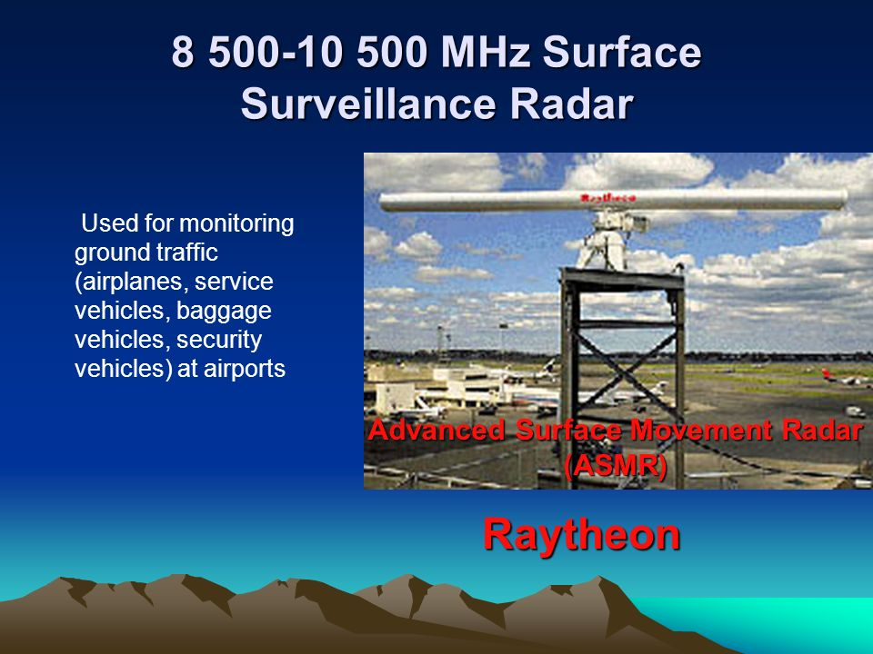 8 500-10 500 MHz Surface Surveillance Radar