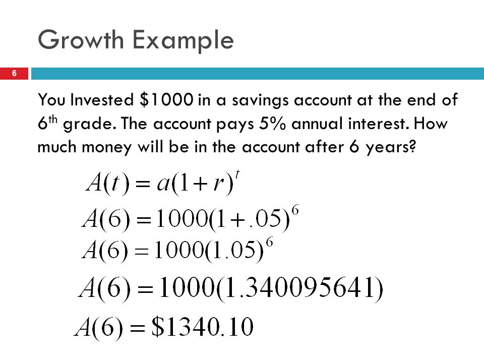 Exponential Growth & Decay - ppt video online download