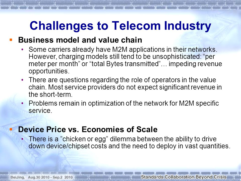 Challenges to Telecom Industry