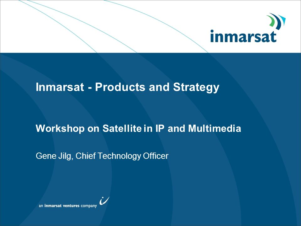 Inmarsat - Products and Strategy