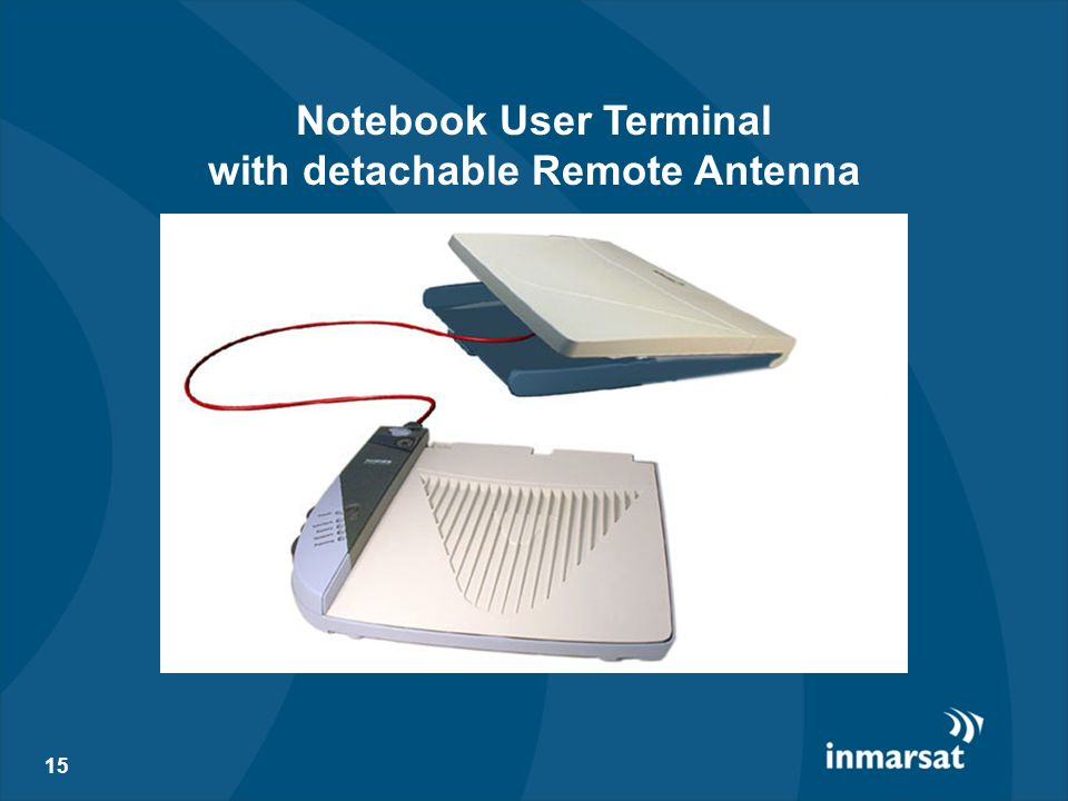Notebook User Terminal with detachable Remote Antenna