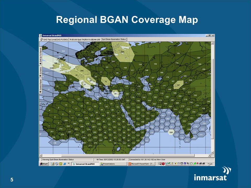 Regional BGAN Coverage Map