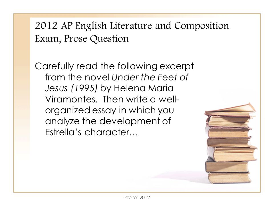 ap literature essay question 2 The ap english literature and composition exam is designed to test your ability to think critically and analyze literary excerpts the test is three hours long and consists of a multiple-choice portion (worth 45% of your grade) and an essay portion (worth 55% of your grade.