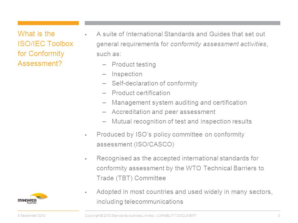 What is the ISO/IEC Toolbox for Conformity Assessment