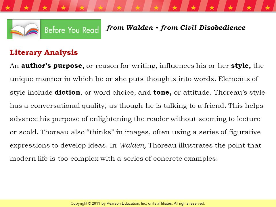 literary analysis from walden • from civil disobedience ppt  literary analysis from walden • from civil disobedience