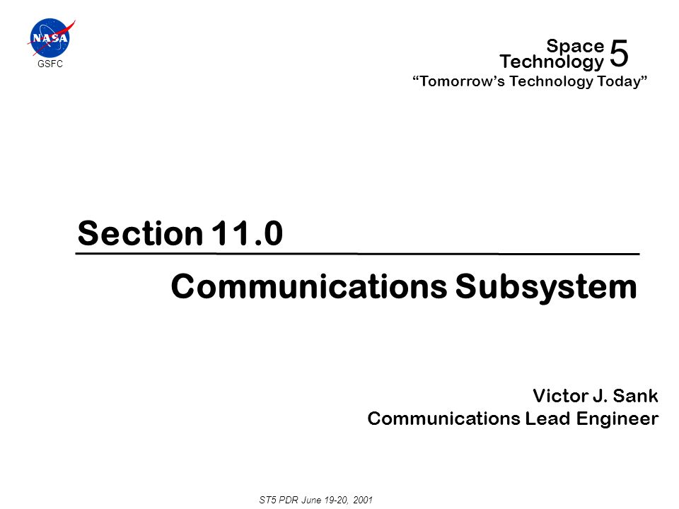 5 section 11 0 communications subsystem space technology