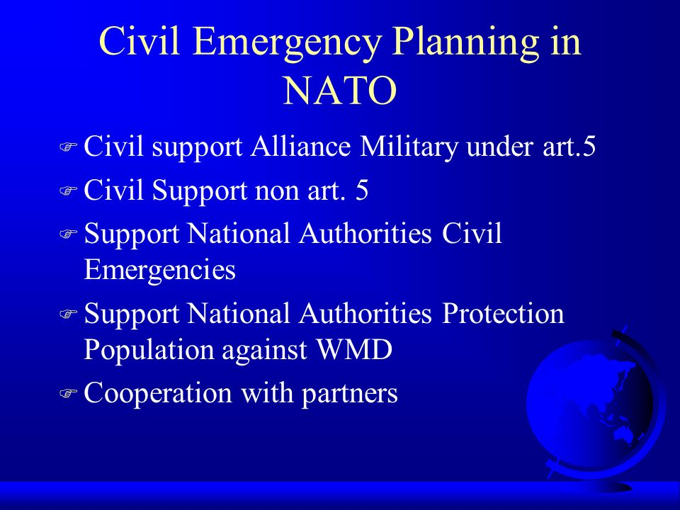 Civil Emergency Planning in NATO