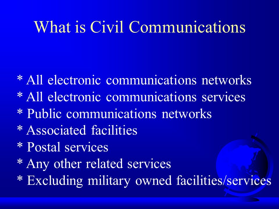 What is Civil Communications