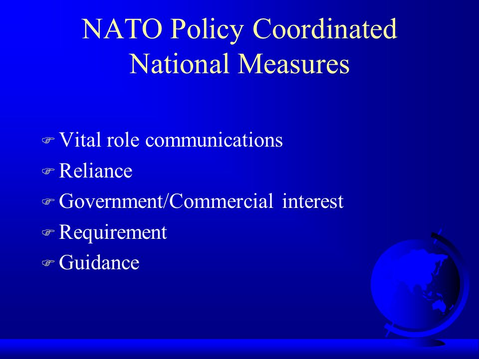 NATO Policy Coordinated National Measures