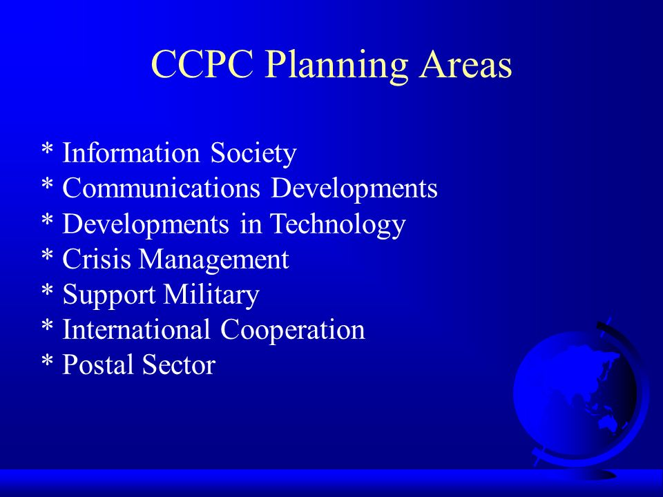 CCPC Planning Areas * Information Society