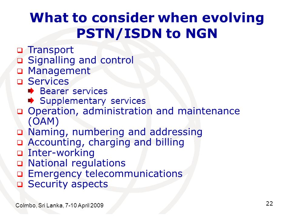What to consider when evolving PSTN/ISDN to NGN