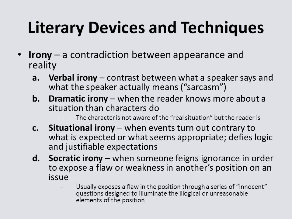 literary devices and techniques in narrative Narrative writing is a form of narrative writers use a variety of techniques to narrative writers foreshadow future events using literary devices.