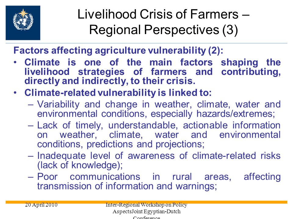 Livelihood Crisis of Farmers – Regional Perspectives (3)