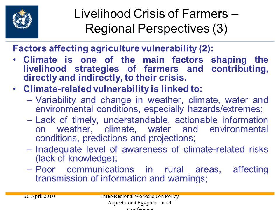 Livelihood Crisis of Farmers – Regional Perspectives (3)