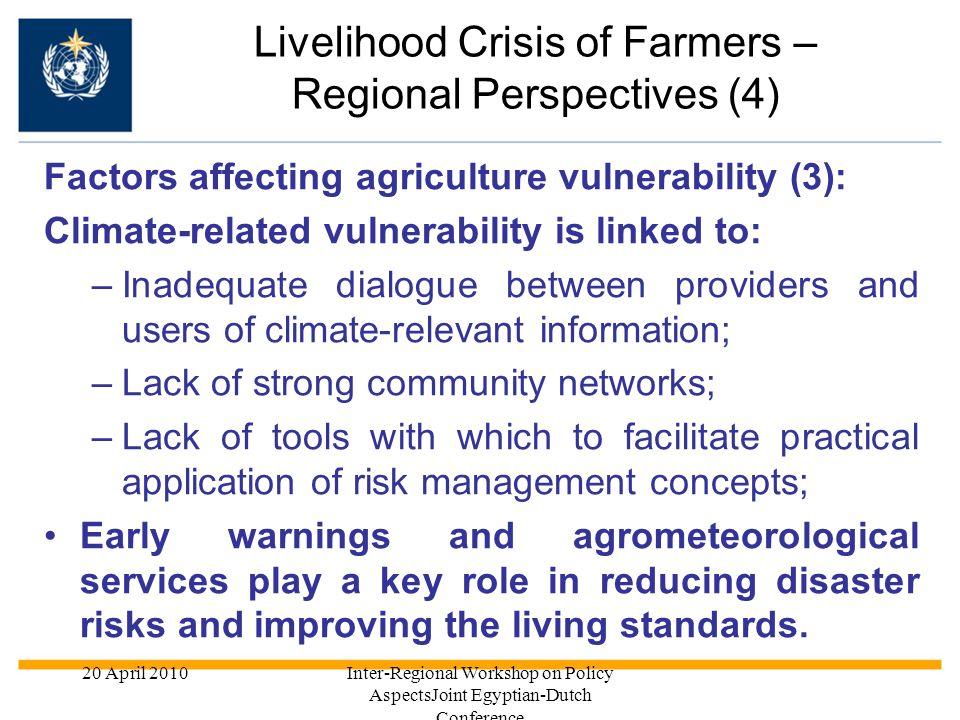 Livelihood Crisis of Farmers – Regional Perspectives (4)