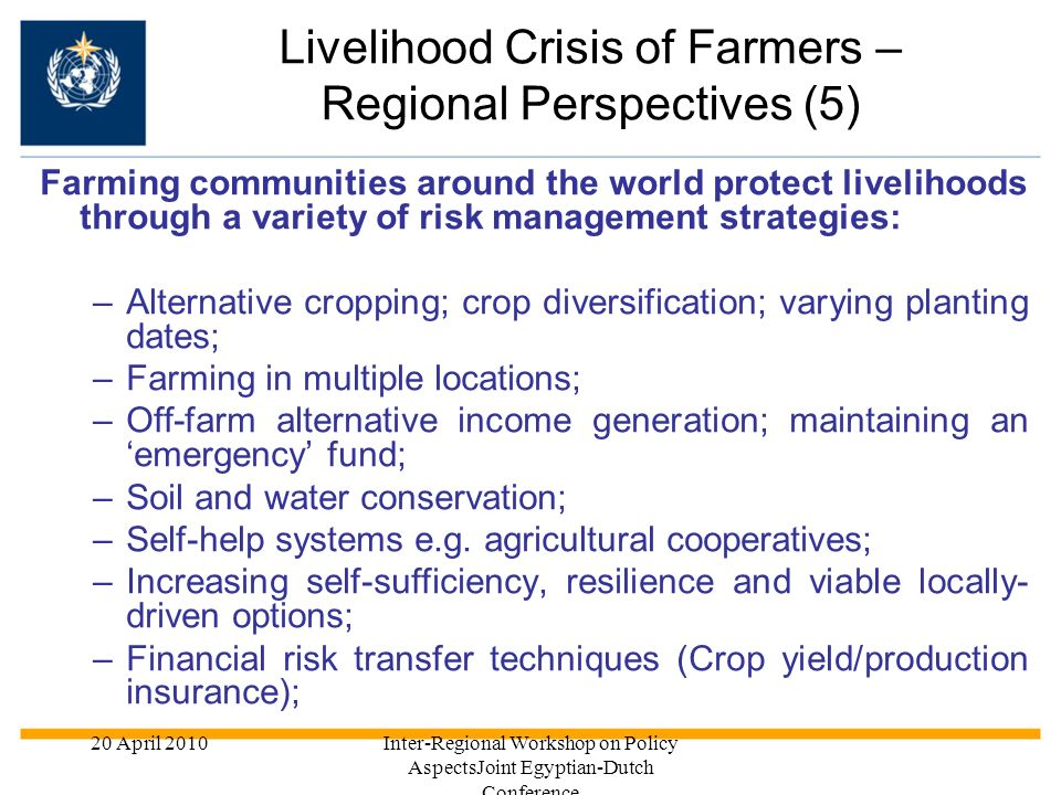 Livelihood Crisis of Farmers – Regional Perspectives (5)