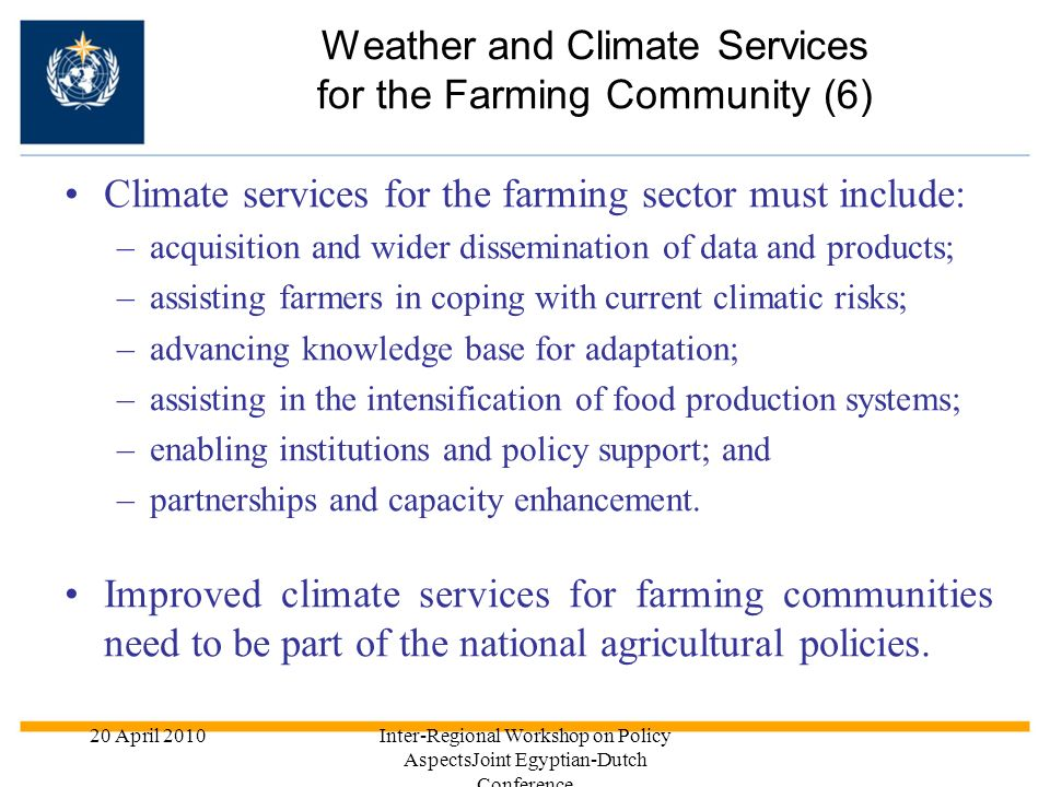 Weather and Climate Services for the Farming Community (6)