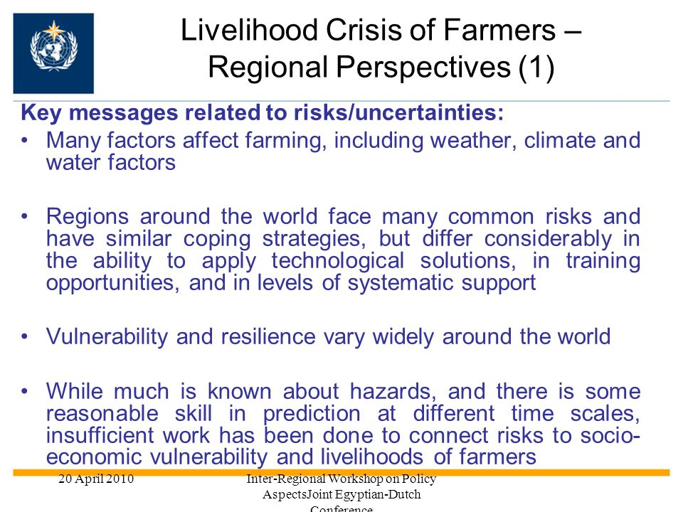 Livelihood Crisis of Farmers – Regional Perspectives (1)