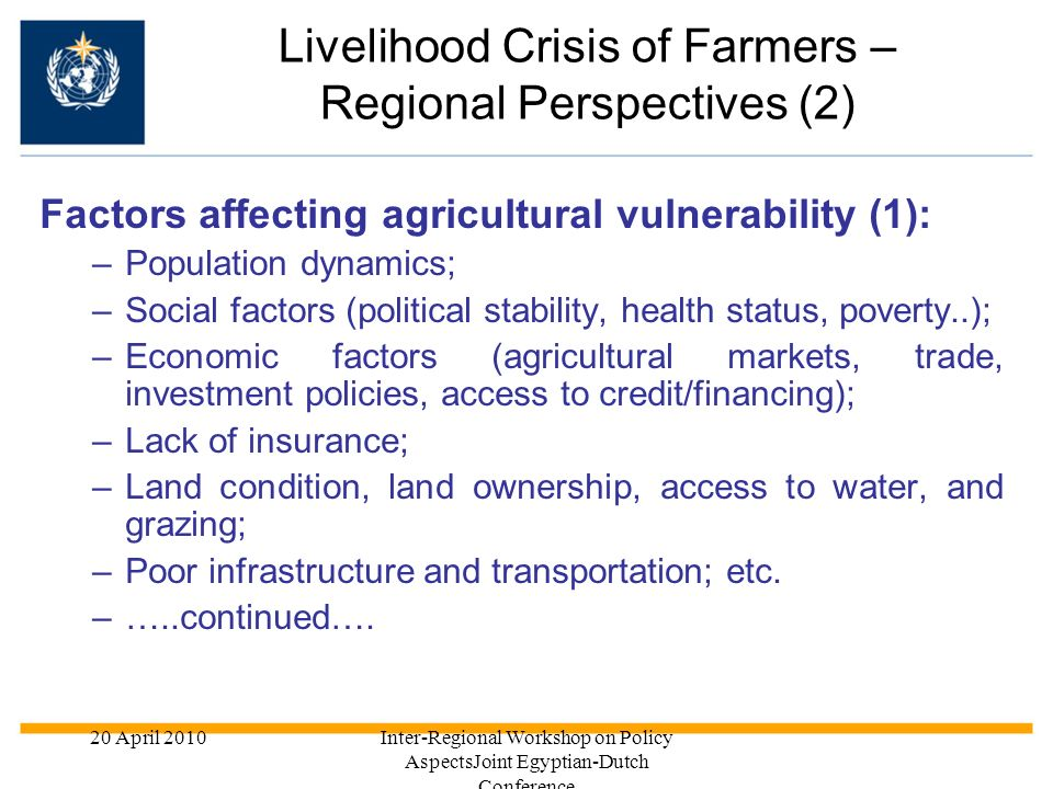 Livelihood Crisis of Farmers – Regional Perspectives (2)