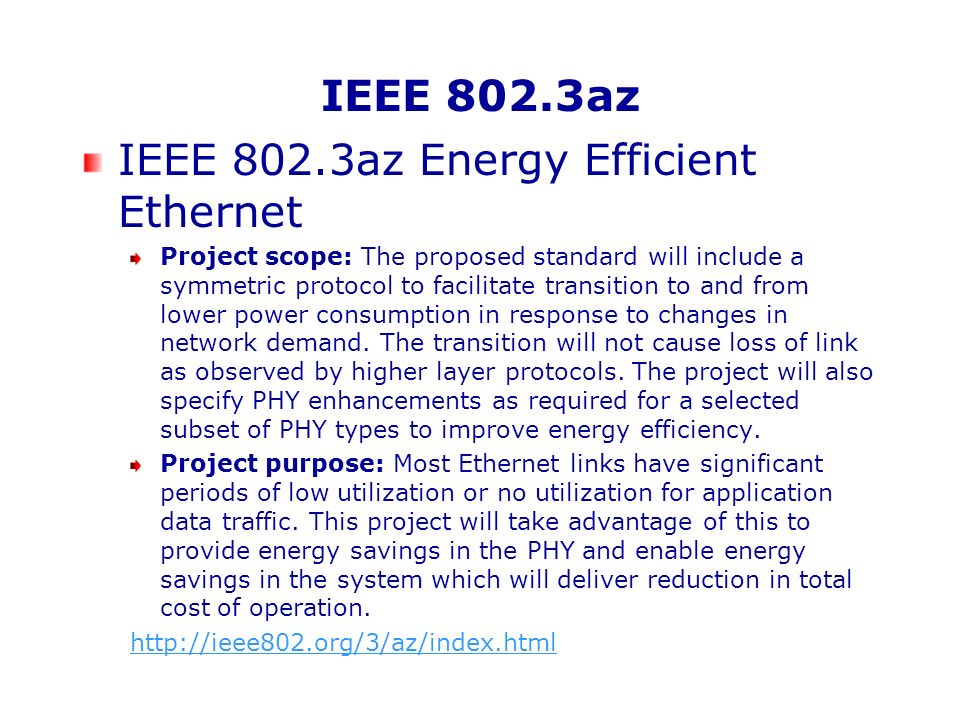 IEEE 802.3az Energy Efficient Ethernet