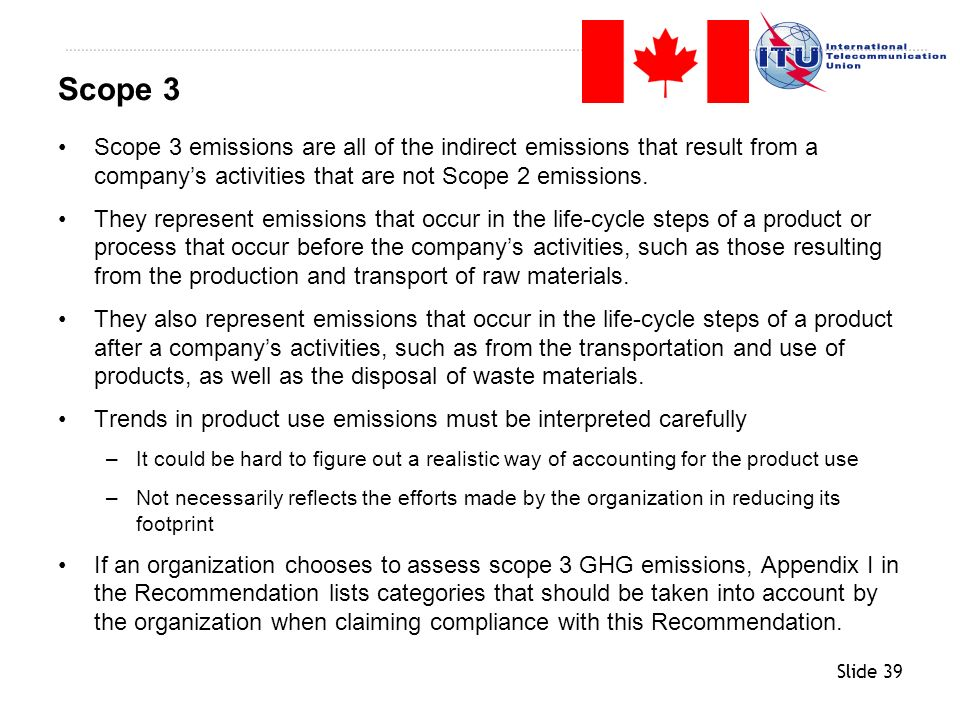 Scope 3 Scope 3 emissions are all of the indirect emissions that result from a company's activities that are not Scope 2 emissions.
