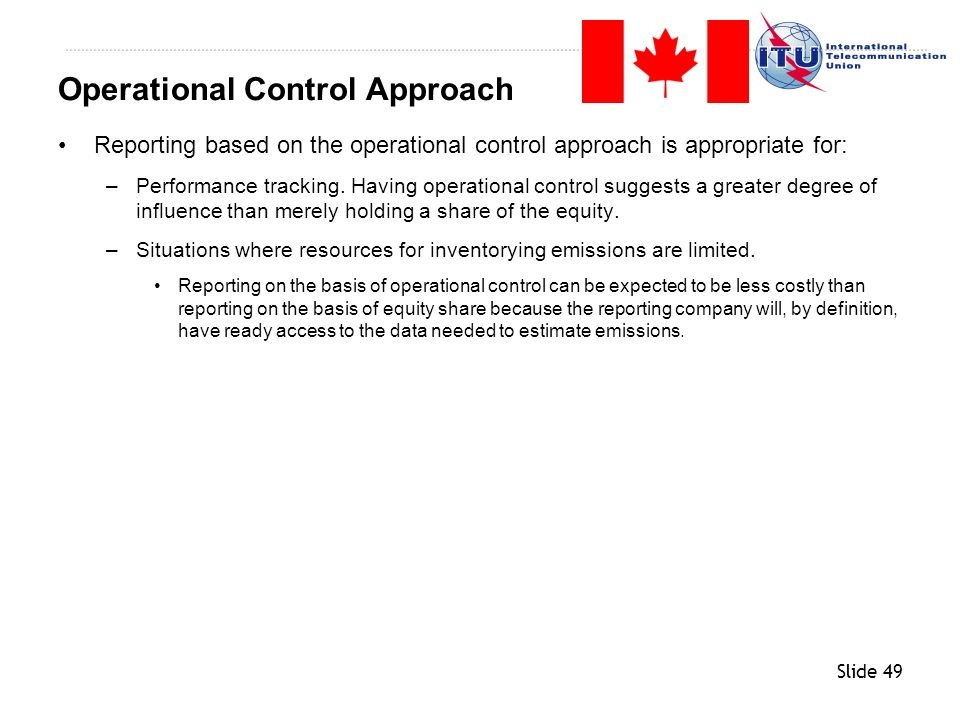 Operational Control Approach