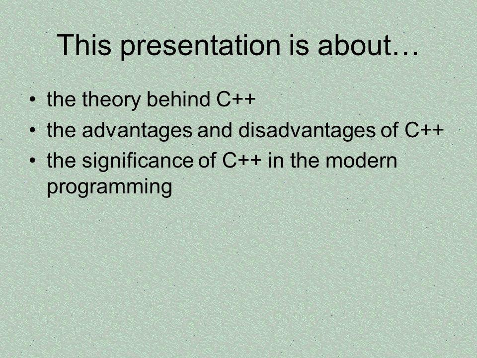 This presentation is about…