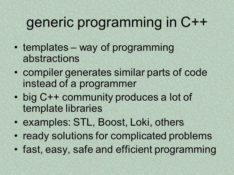 generic programming in C++